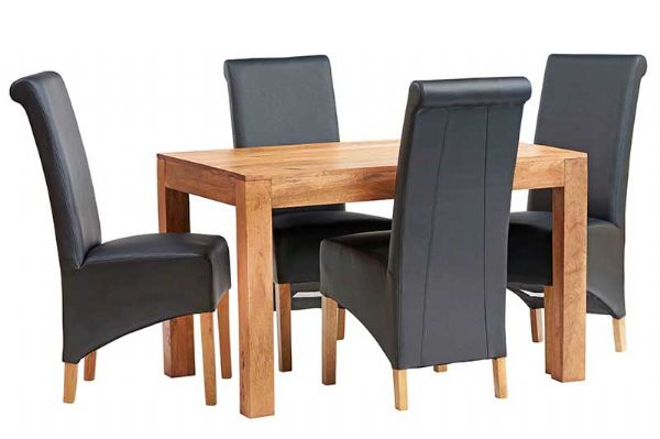 Tokyo Light Dining Tables | Solid mango wood fixed top dining tables in two sizes.